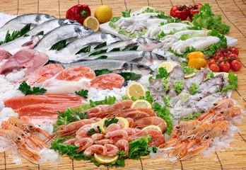 Pesce di mare, banco del pesce