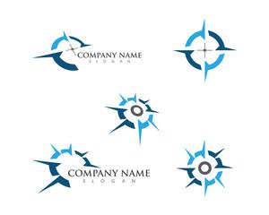 Compass Logo Template vector icon