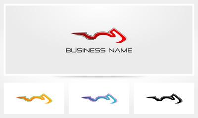 Sportbike Silhouette Logo