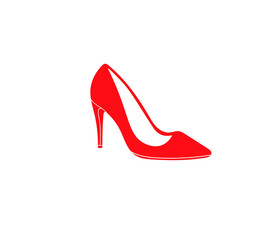 Woman Red Sexy Shoes Icon