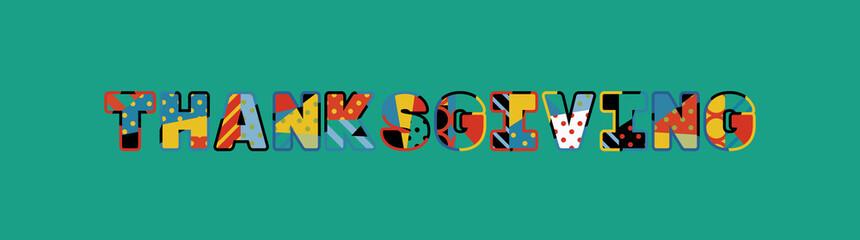Thanksgiving Concept Word Art Illustration