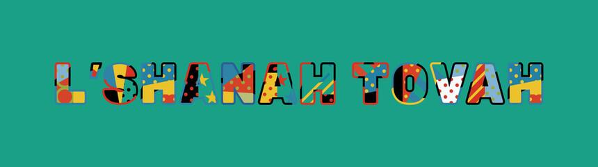 L'Shanah Tovah Concept Word Art Illustration