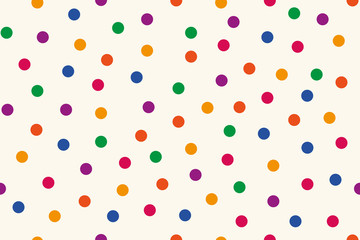 Background, seamless pattern of colorful dots. Vector illustration