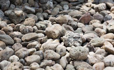 Closeup shot of grey gravel stones