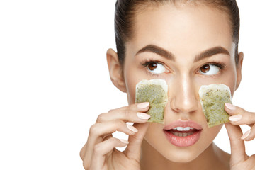 Eye Skin Beauty. Young Woman With Natural Facial Makeup
