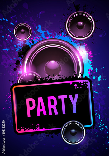 vector illustration club disco flyer dancing event template with