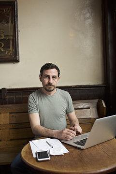 Portrait of a pub landlord
