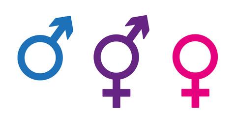 drei geschlechter symbole