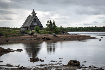 old church on the coast, russian north