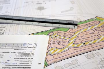 Städtischer Bebauungsplan