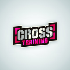 Modern professional cross training sport template logo design.