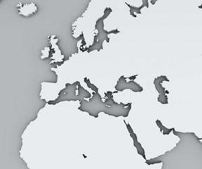 Cartina Politica Muta Dell Europa.Cartina Politica Dell Europa E Africa Citta Europee Cartina Politica Con Confine Degli Stati Aree Urbane Wall Mural Naeblys