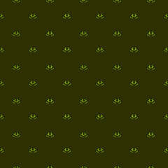 Seamless background with small floral pattern on diagonal. Endless drawing on bright background for wallpaper design, textiles, packaging.