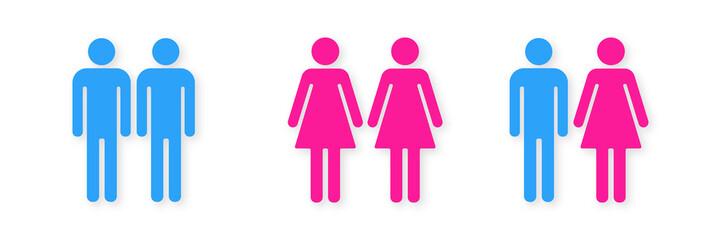 Symbol-Set - Mann und Frau