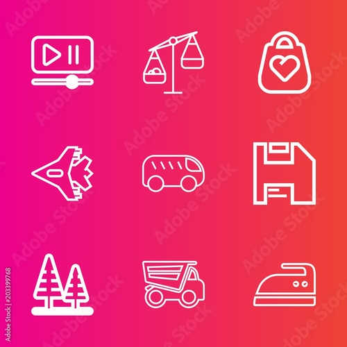 Premium set with outline vector icons  Such as housework