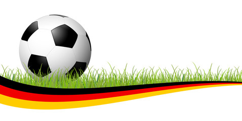 soccer ball with german banner