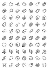 Business & Finance Hand Drawn Vector Icon Collection