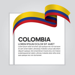 Colombia flag background