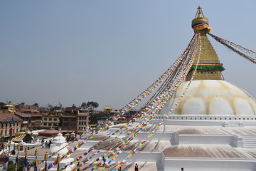 District of Boudha and Boudhanath Stupa, Kathmandu, Nepal