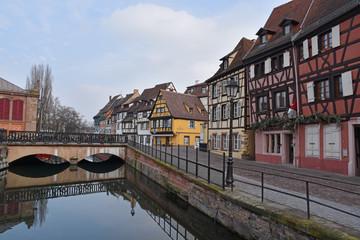 District Little venice in Colmar, France