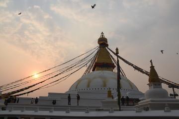 Dusk at Boudhanath Stupa, Kathmandu, Nepal