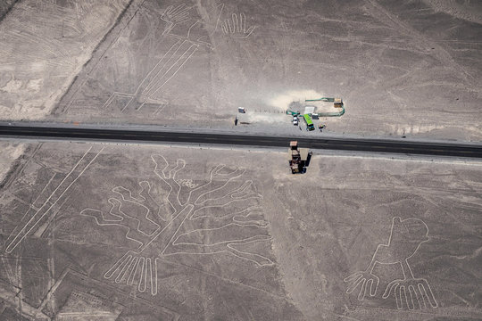 Nazca Lines - The Trees, The Lizard and The Hands. (Peru)
