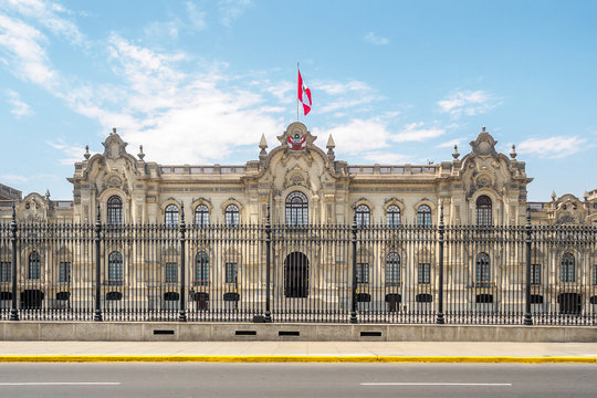 The Government Palace, the official residence of the President of Peru in Lima City.