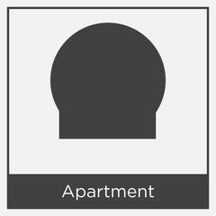 Apartment icon isolated on white background