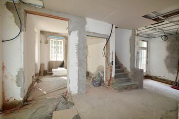 Treppe, Innenausbau, Baustelle