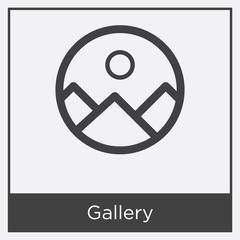Gallery icon isolated on white background