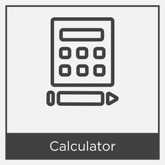 Calculator icon isolated on white background