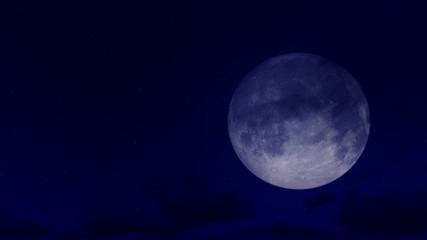 3d Rendering Blue Moon Illustration