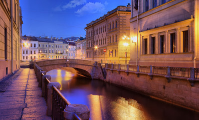 The embankment of the Winter canal in St. Petersburg