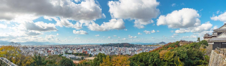 松山市街地の眺望