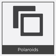 Polaroids icon isolated on white background