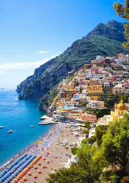 Colorful town Positano, Italy