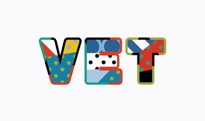 Vet Concept Word Art Illustration