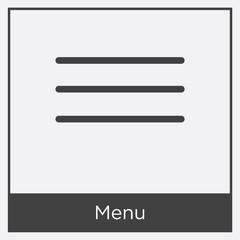 Menu icon isolated on white background