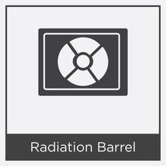 Radiation Barrel icon isolated on white background