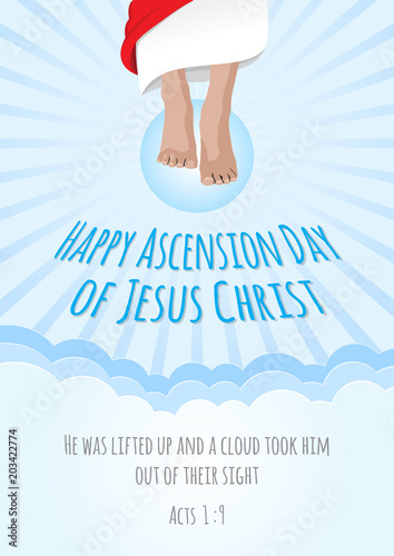 Ascension Day Of Jesus Christ Stock Image And Royalty Free Vector
