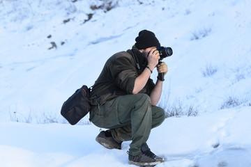 fotografo tra il ghiaccio