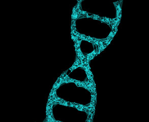 DNA sequence line connect generative shape