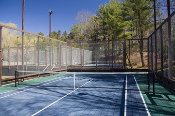 platform paddle tennis court at private suburban club