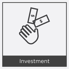 Investment icon isolated on white background