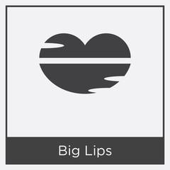 Big Lips icon isolated on white background