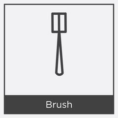 Brush icon isolated on white background