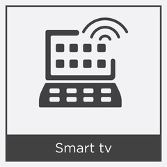 Smart tv icon isolated on white background