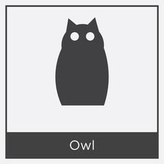 Owl icon isolated on white background