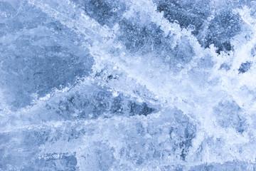 Ice texture. Winter background.