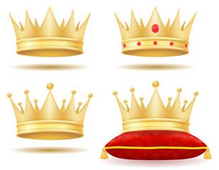 king royal golden crown vector illustration
